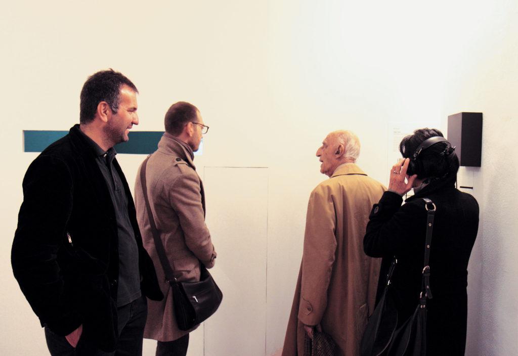 Con Gillo Dorfles, Fondazione Filiberto Menna, Salerno 2011