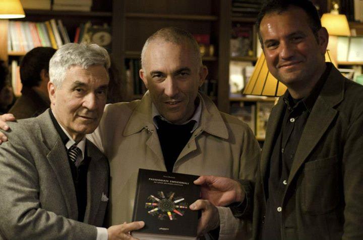 Con Sergio Lombardo e Christian Maretti per la presentazione del libro Passeggiate Emozionali, Libreria Borghese, Roma 2013