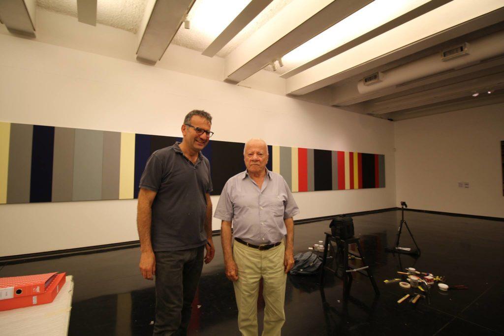 Con Achille Bonito Oliva, MACRO Museo d'arte contemporanea,Roma 2017