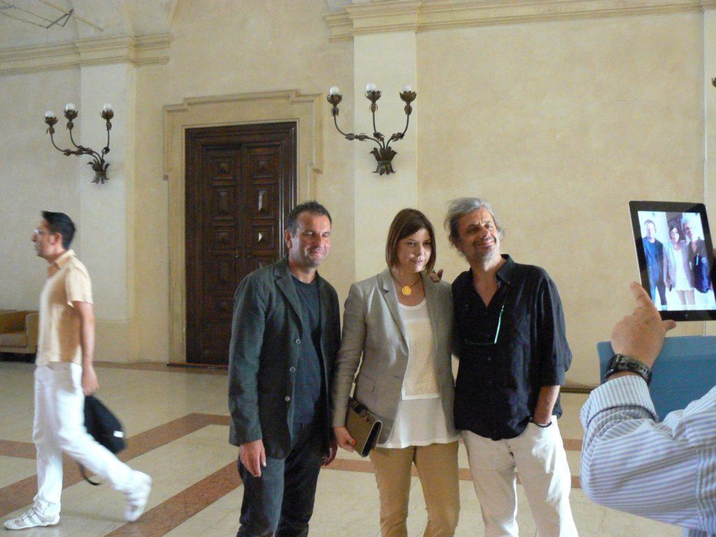 Con Alessandro Bergonzoni, Palazzo D'Accursio, Bologna 2012