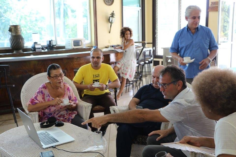 Con il rettore dell'ISA Universidad de Las Artes de Cuba Alexis Seijo Garcia, L'Avana 2017