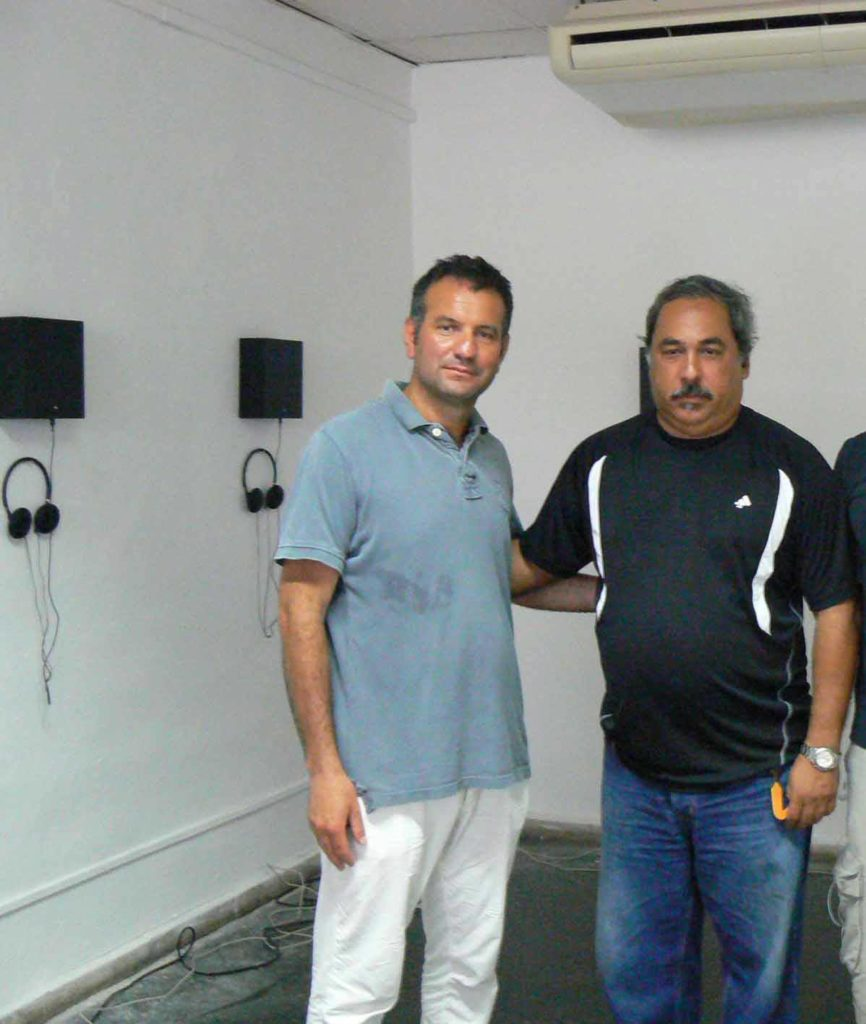 Con Enrique Perez Mesa direttore dell'Orchestra Sinfonica di Cuba, Concerto con Vista, 11.Biennale Arte, L'Avana 2012