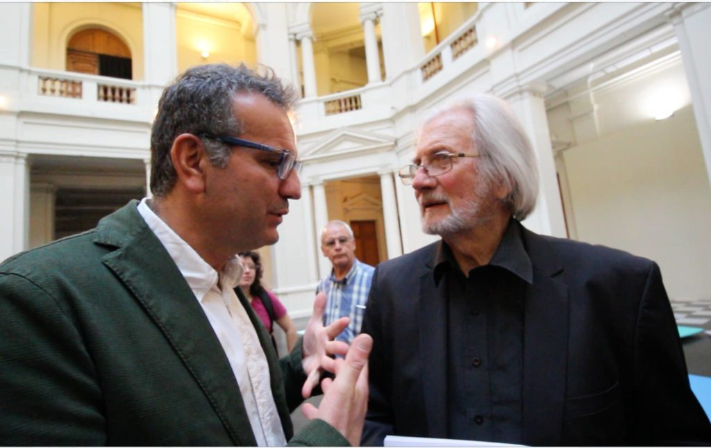 Con Francisco Brugnoli, direttore del MACMuseo d'arte moderna, Santiago del Cile 2016