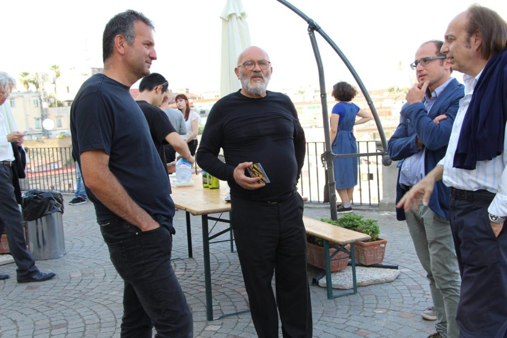 Con Giuseppe Morra, Museo Hermann Nitsch-Fondazione Morra, Napoli 2010