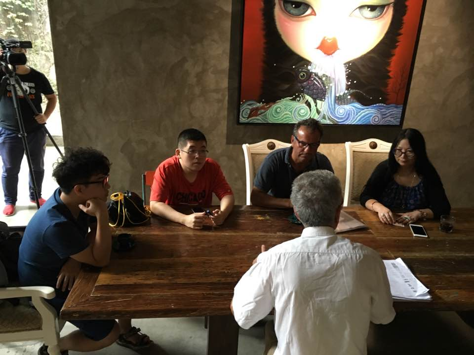 Con Mian Bu, direttrice della Biennale Italia-Cina, Art District 798, Pechino 2016