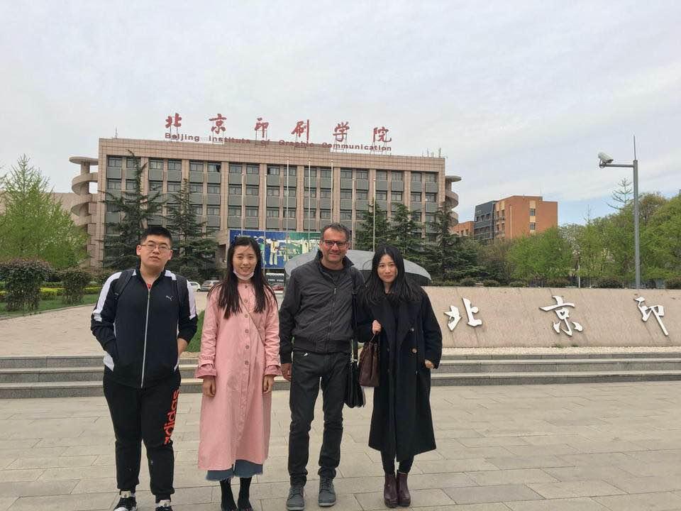 Conferenza al Beijing Institute of Graphic Communication, Pechino 2017