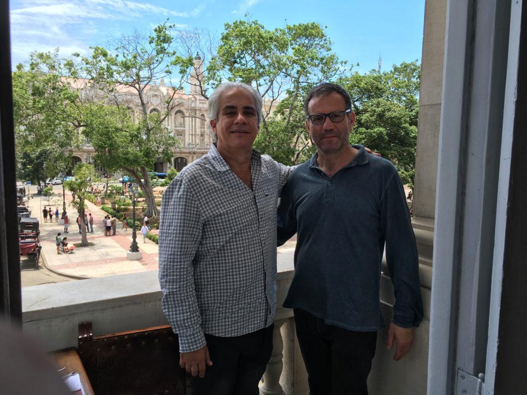 Con Jorge Fernandez Torres, direttore del Museo Nacional de Bellas Artes de Cuba, L'Avana 2018