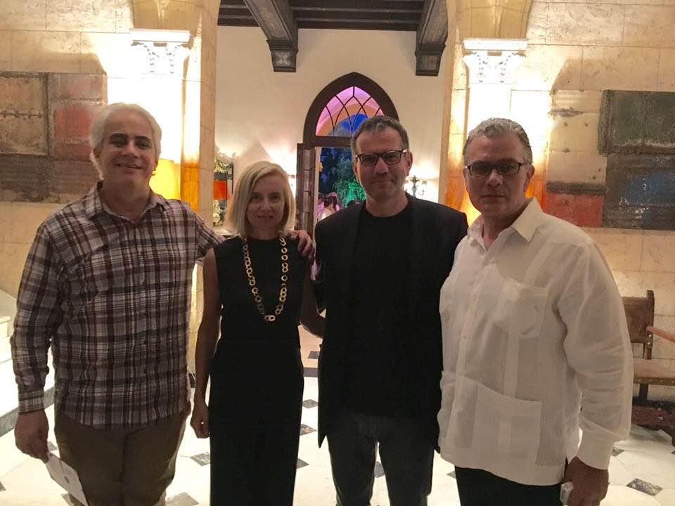Con il Direttore del Museo Nazionale di Cuba Jorge Fernandez Torres, Maria Grazia Mattarella e l'ambasciatore italiano a Cuba Andrea Ferrari, L'Avana 2018