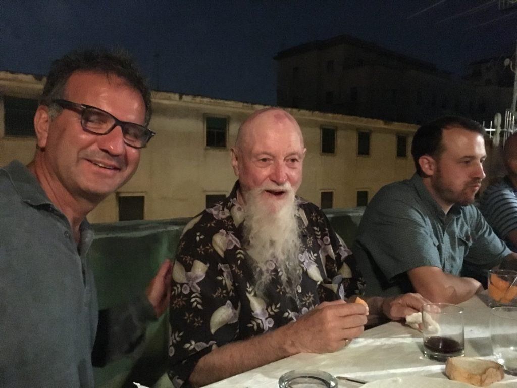 Con Terry Riley, Casa Morra - Fondazione Morra, Napoli 2018