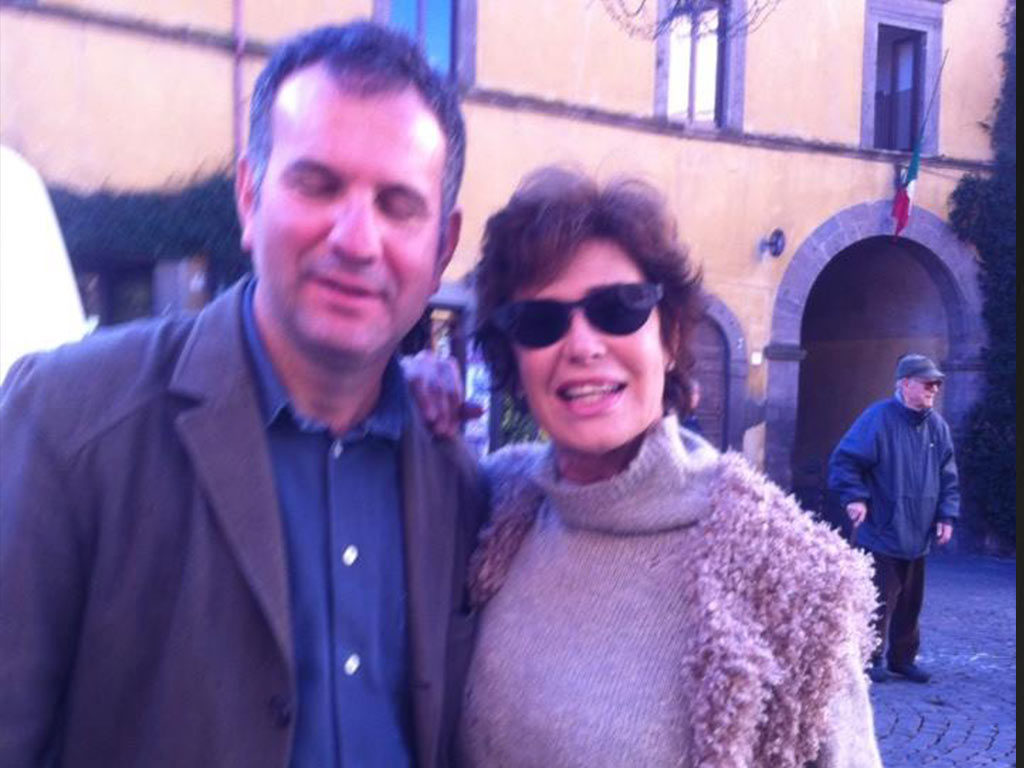 Con Corinne Cléry, Tuscania 2013