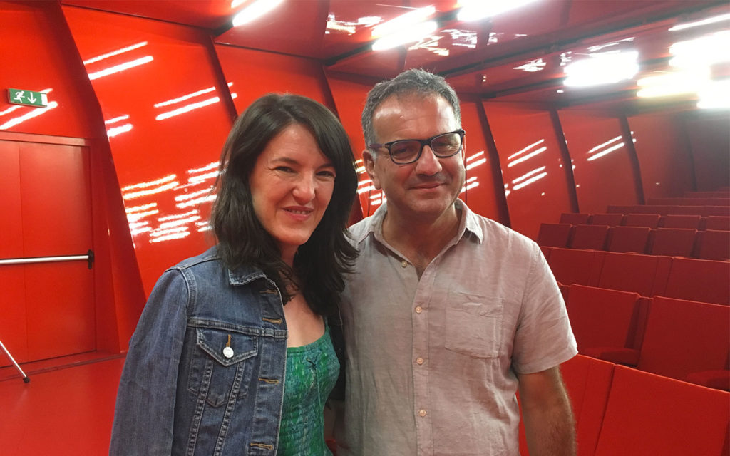 Con Gabriela Urtiaga, curator at the Museum of Latin American Art, Museo MACRO Asilo, Roma 2019