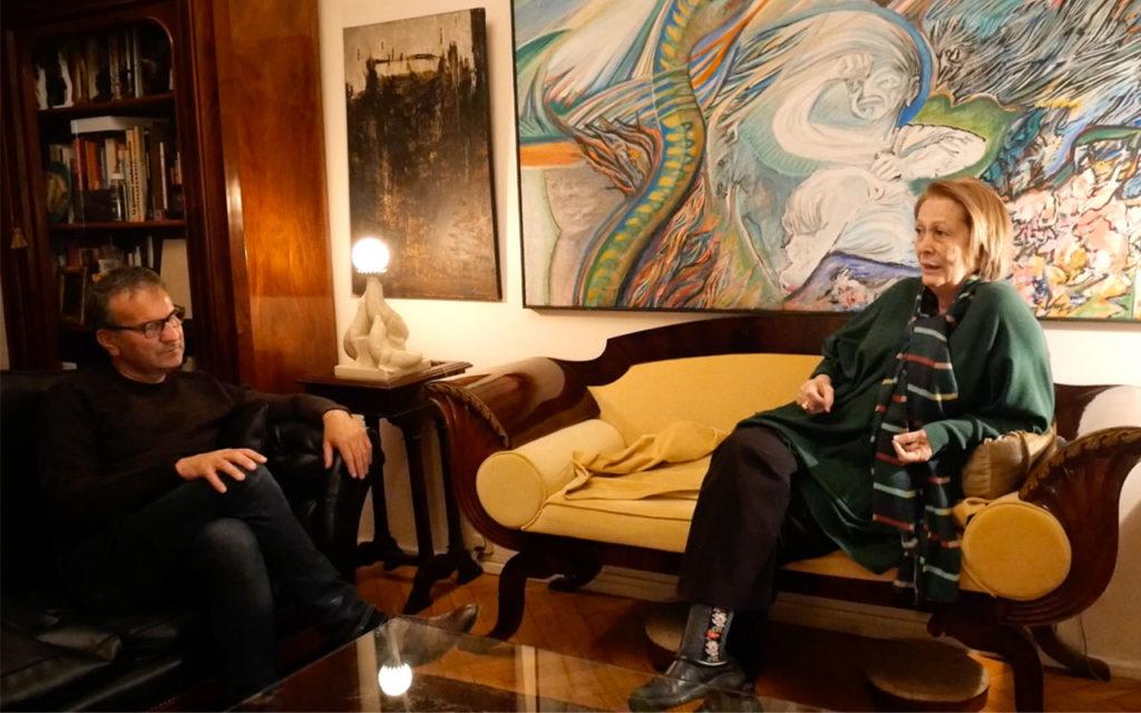 Con Laura Buccellato, Buenos Aires, 2019
