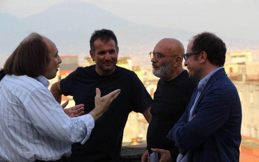 Con Massimo Fargnoli e Giuseppe Morra, Museo Hermann Nitsch, Napoli 2009