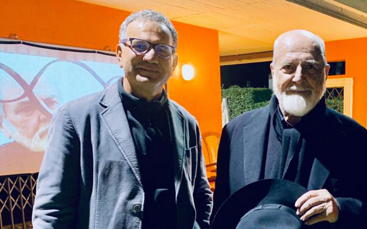 Con Michelangelo Pistoletto, Ambasciata di Cuba, Roma 2019