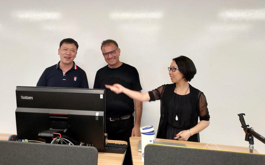 Con il professore Weihui Dai, Fudan University, Shanghai 2019