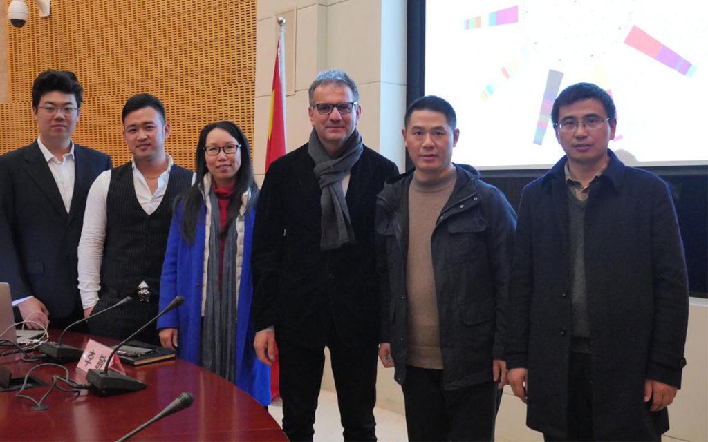Con il Direttore della Donghua University, Cina 2018