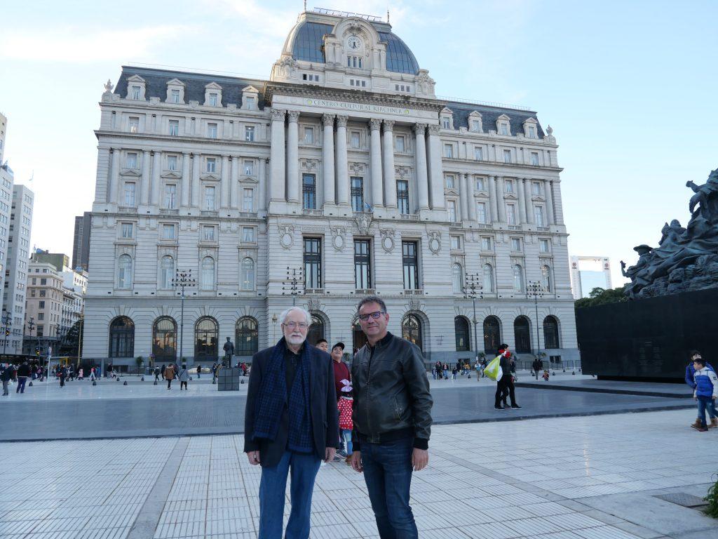 Con il professore Claudio Guerri, CCK Kirchner Cultural Center, Buenos Aires 2019